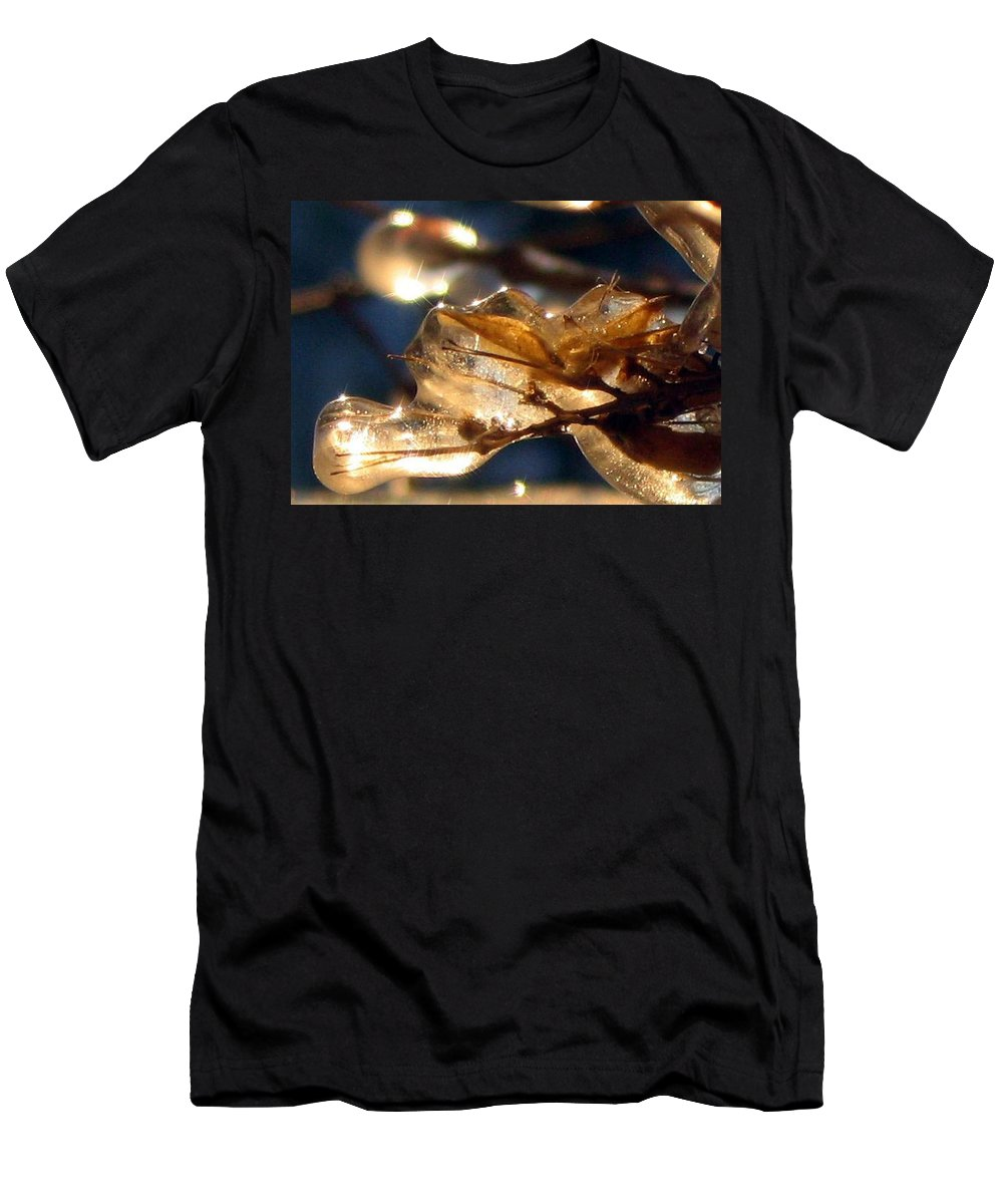 Photography Men's T-Shirt (Athletic Fit) featuring the photograph Frozen Fairy by Dawn Marshall
