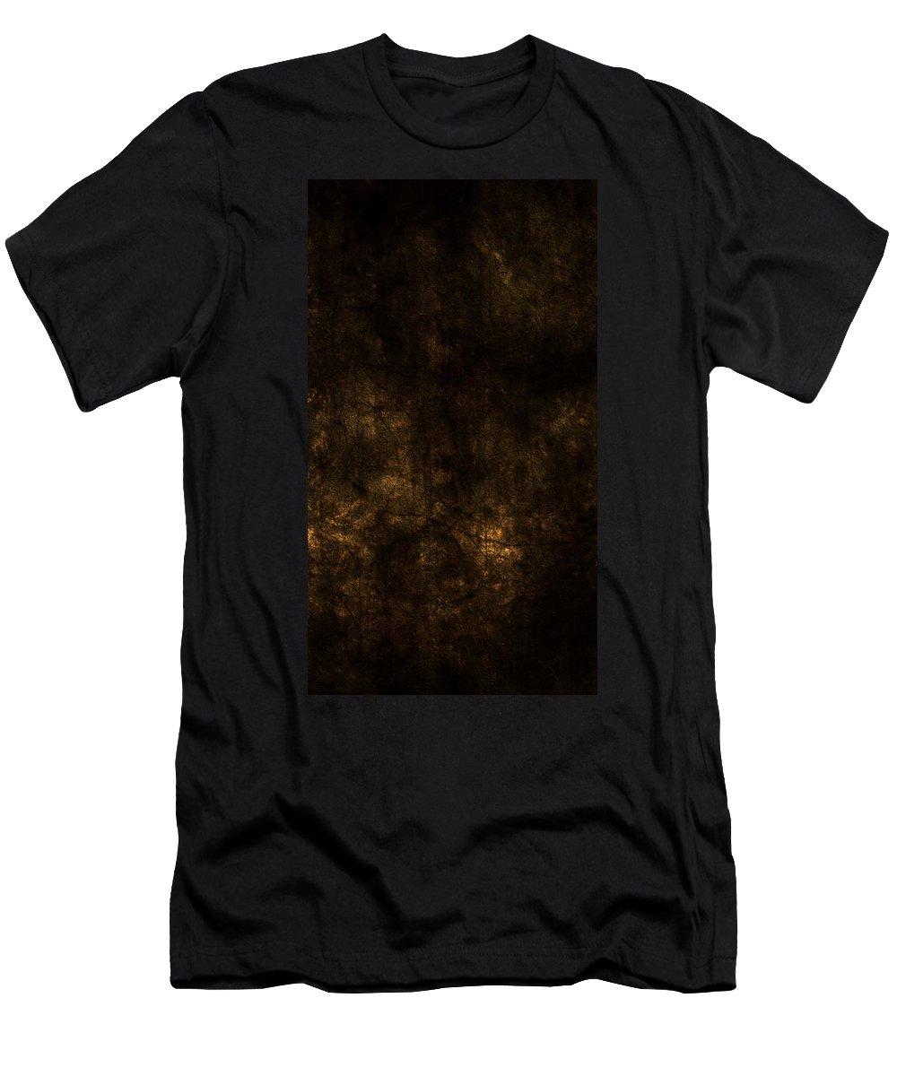 Digital Art Men's T-Shirt (Athletic Fit) featuring the digital art Frozen Fire by Shubham Kumar