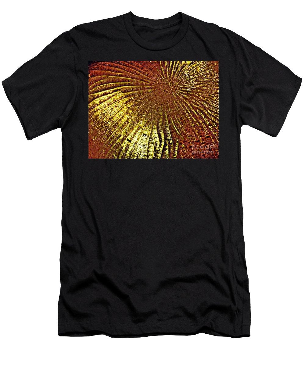 Glass Men's T-Shirt (Athletic Fit) featuring the photograph Frozen Light by Sarah Loft