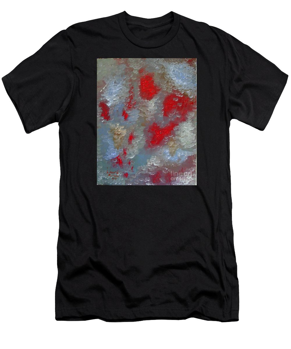 Abstract Men's T-Shirt (Athletic Fit) featuring the painting Frozen Street by Laurie Morgan