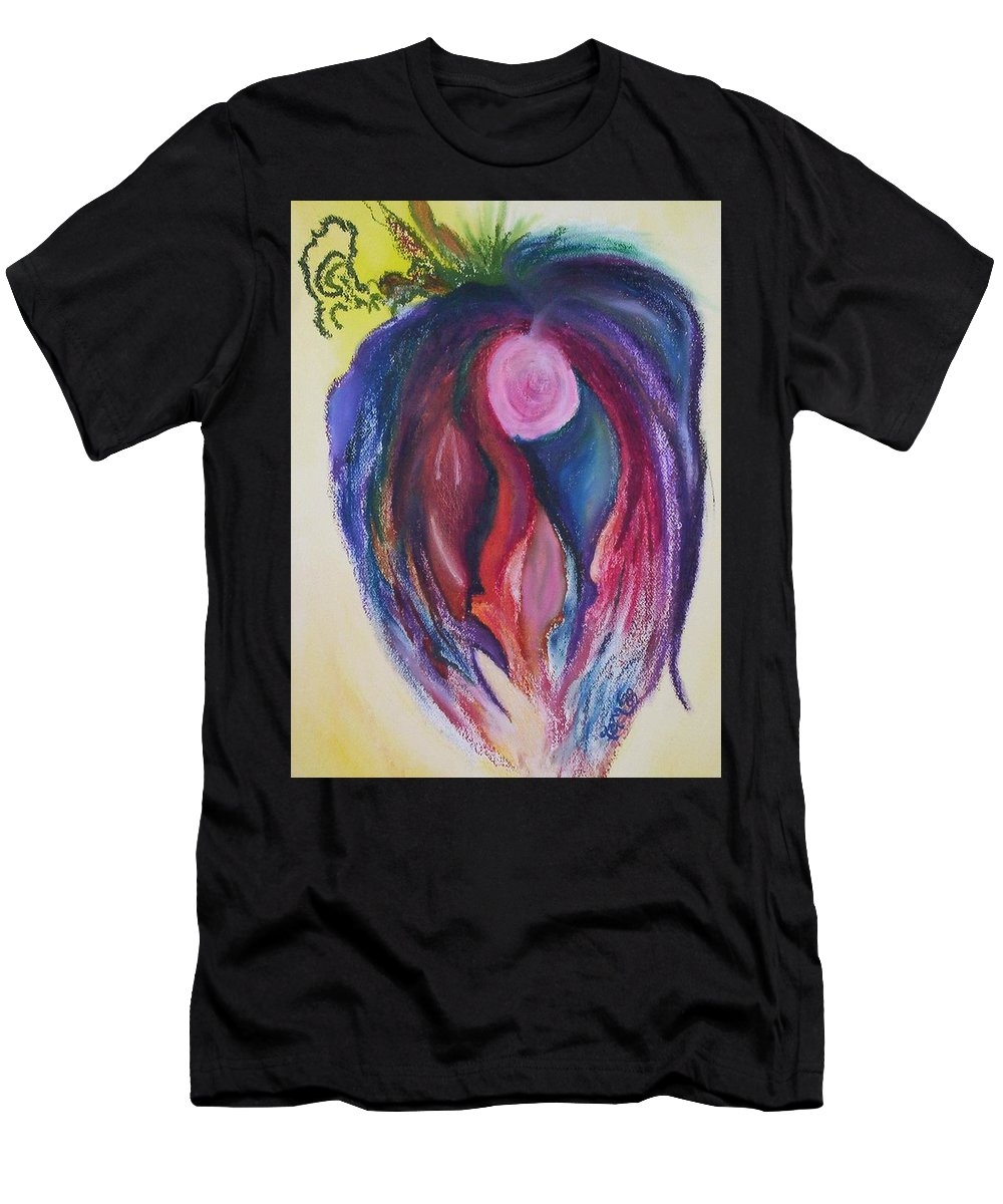 Abstract Men's T-Shirt (Athletic Fit) featuring the painting Fruit by Suzanne Udell Levinger