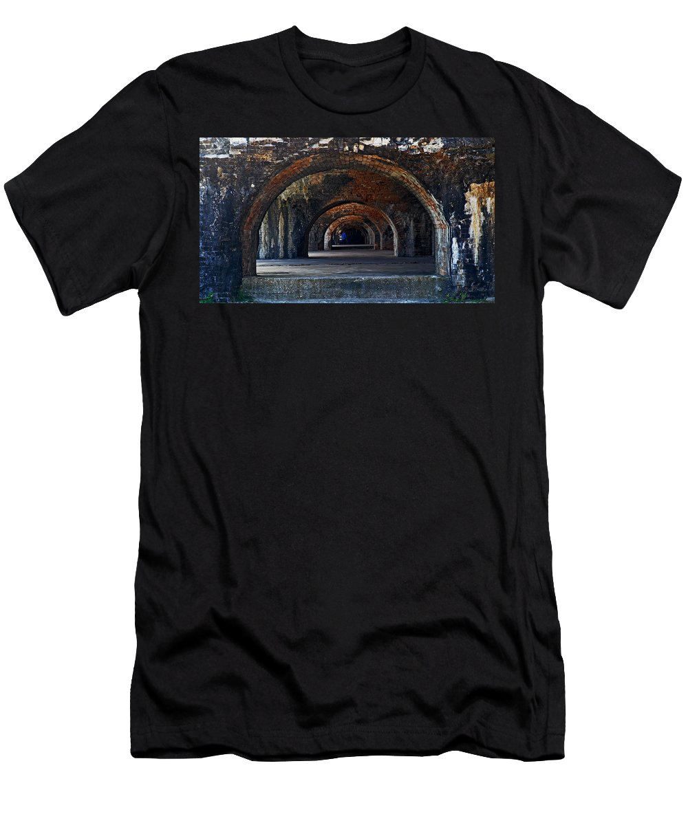 Fort Men's T-Shirt (Athletic Fit) featuring the photograph Ft. Pickens Arches by George Taylor