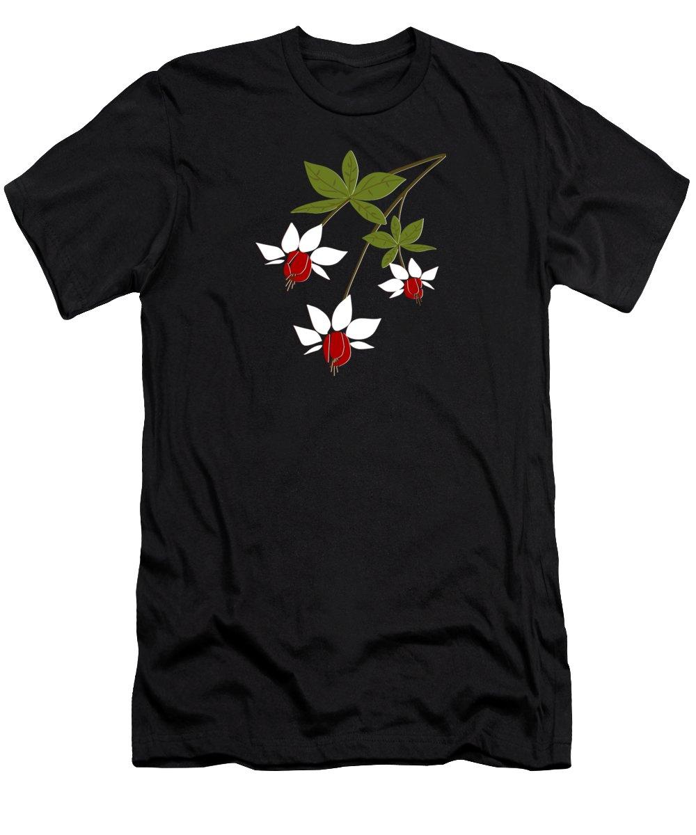 Fuchsia Men's T-Shirt (Athletic Fit) featuring the digital art Fuchsia by Anastasiya Malakhova