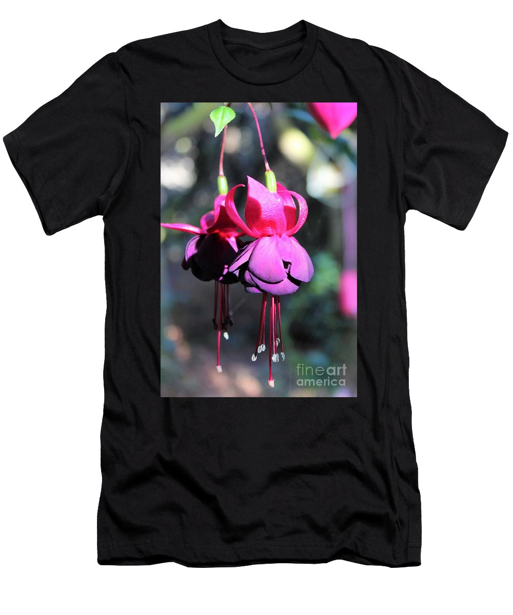Fuchsias Men's T-Shirt (Athletic Fit) featuring the photograph Fuchsias Indian Maid by Jane Powell