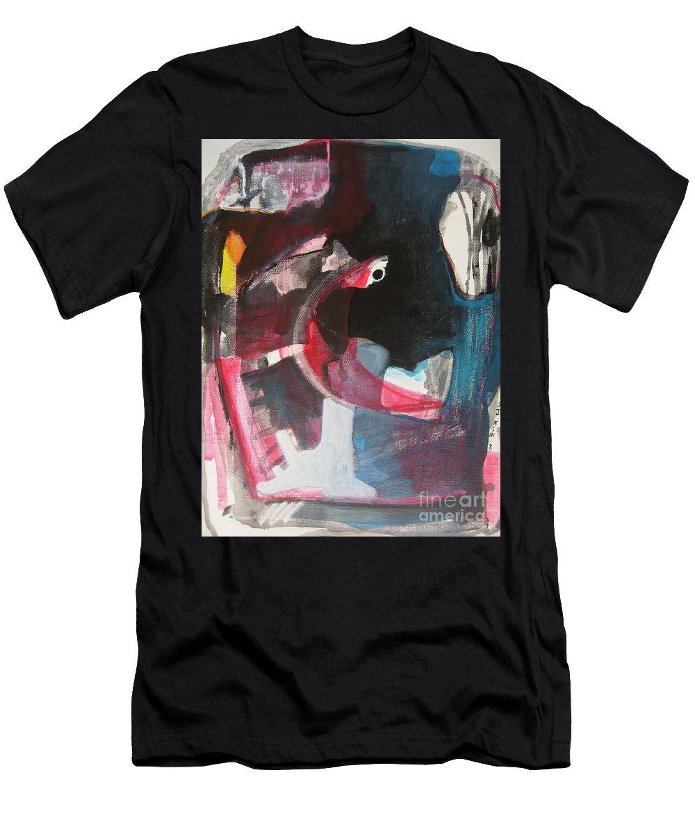 Abstract Paintings Paintings Abstract Art Paintings Men's T-Shirt (Athletic Fit) featuring the painting Fumbling With Memory by Seon-Jeong Kim
