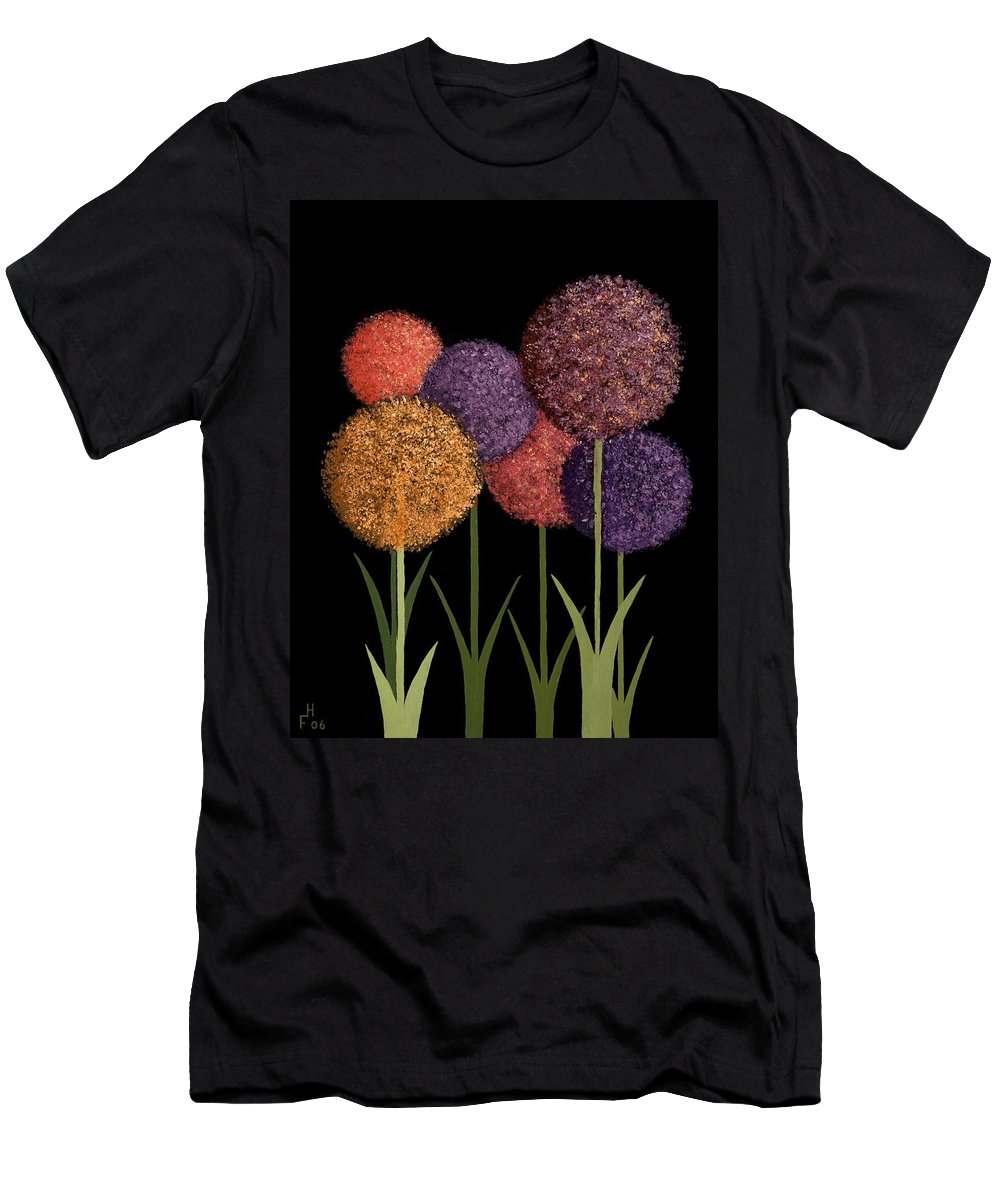 Art Decor Men's T-Shirt (Athletic Fit) featuring the painting Fun Colours by Frank Hamilton