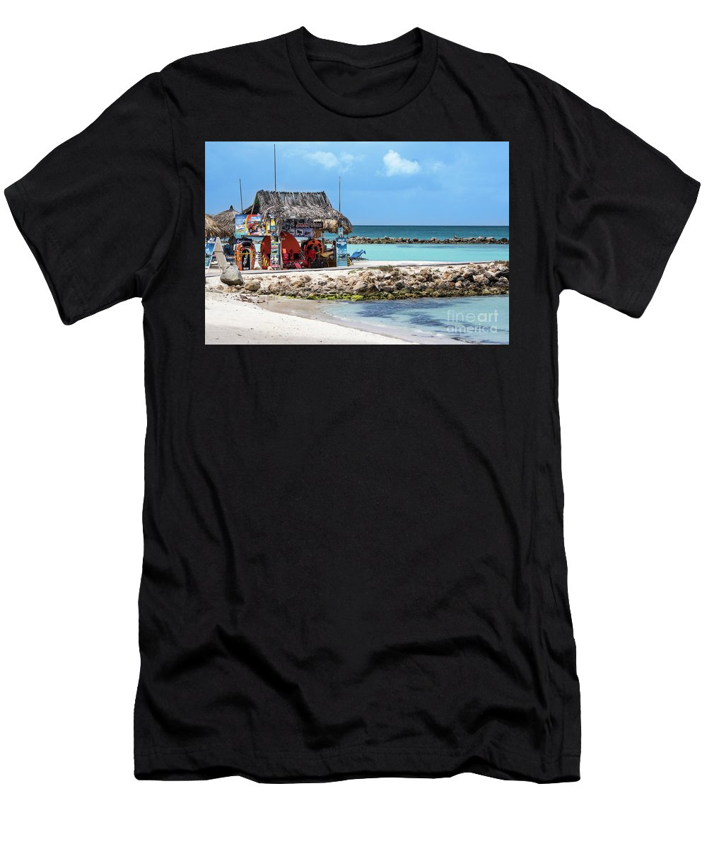 Aruba Men's T-Shirt (Athletic Fit) featuring the photograph Fun In The Sun by Judy Wolinsky