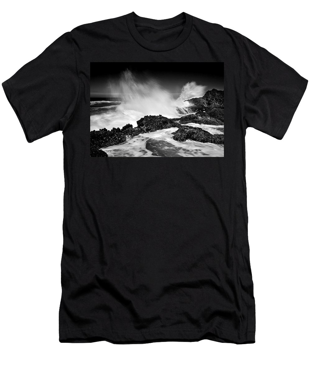 Waves Men's T-Shirt (Athletic Fit) featuring the photograph Fury by Mike Dawson