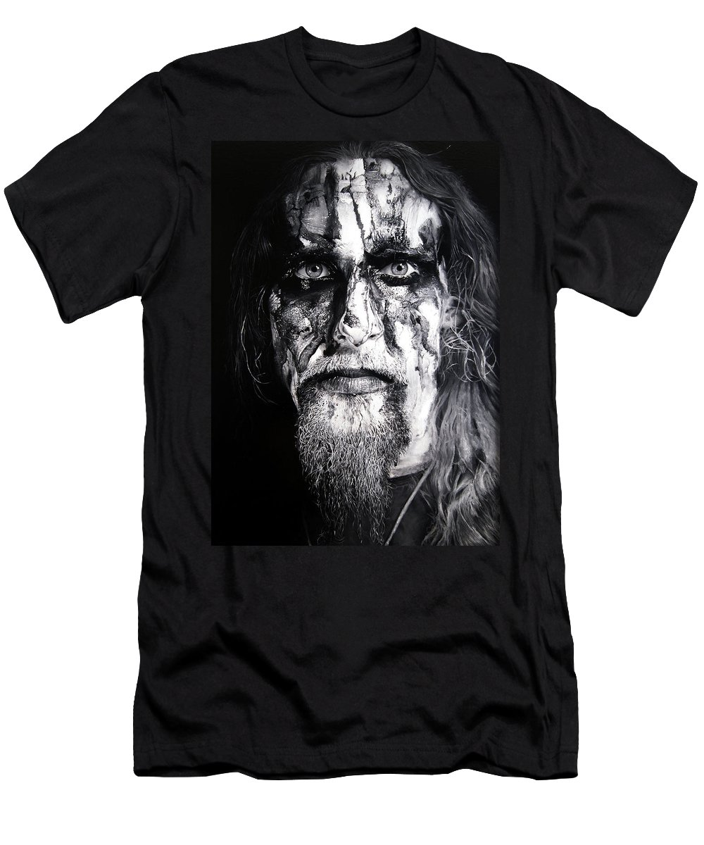 Gaahl Men's T-Shirt (Athletic Fit) featuring the painting Gaahl by Christian Klute