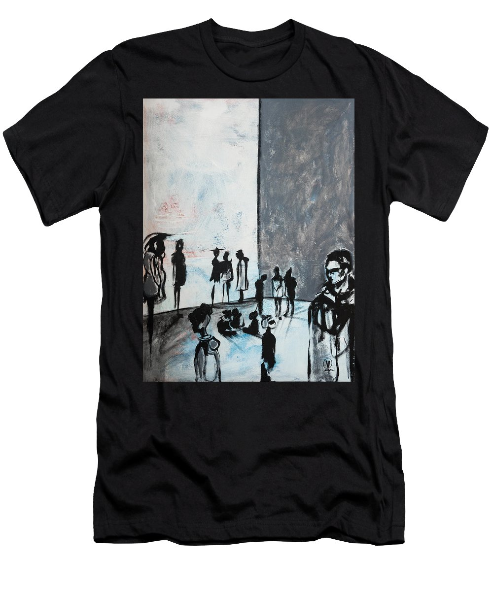 Art Men's T-Shirt (Athletic Fit) featuring the painting Bewildered by Jono Vengo