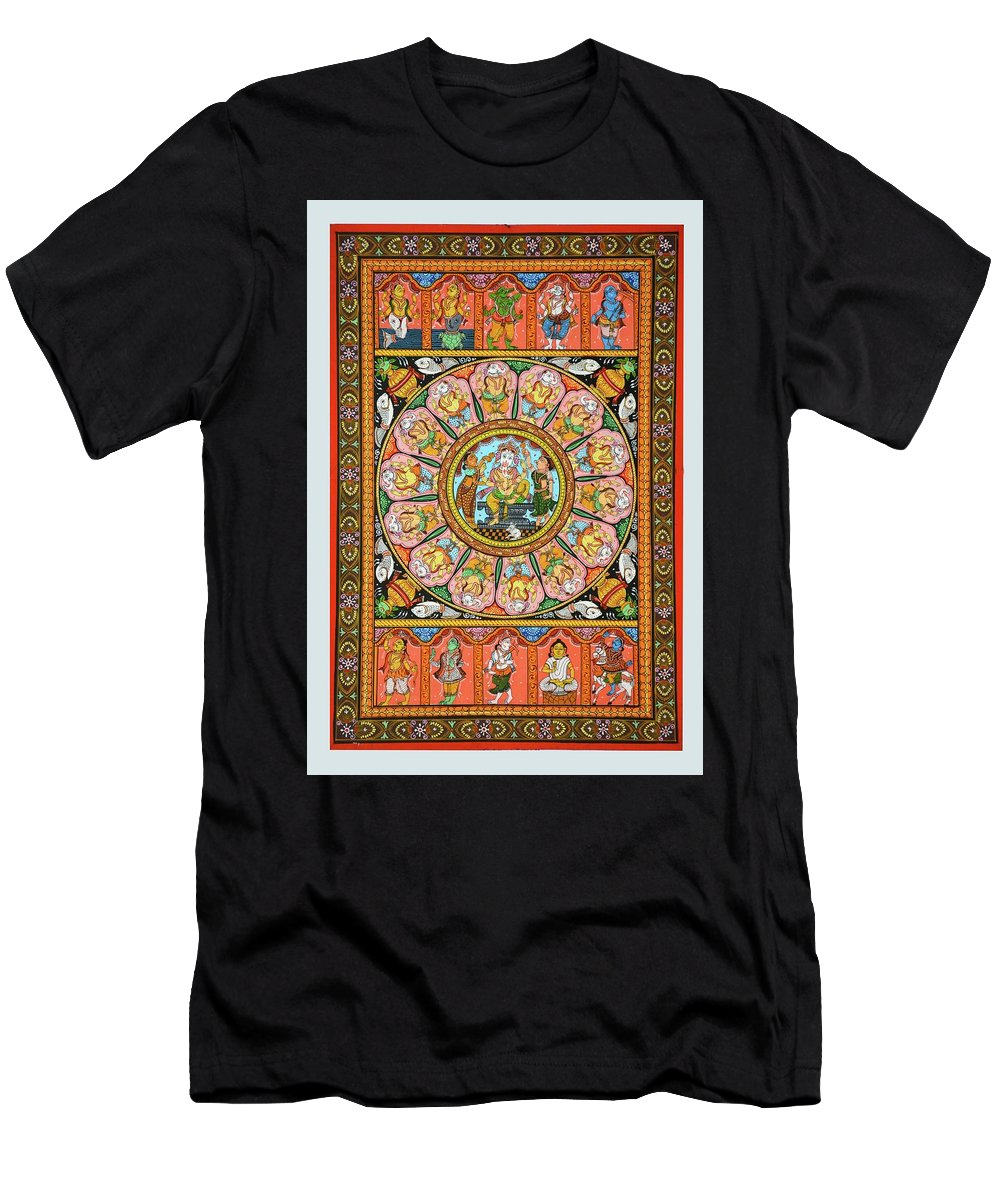 Men's T-Shirt (Athletic Fit) featuring the painting Ganesha 4 by Bal Krishna Bariki