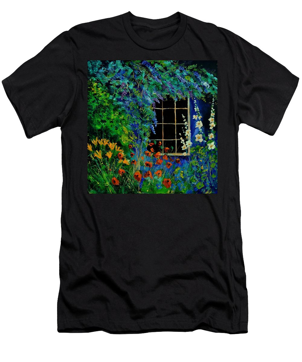 Flowers T-Shirt featuring the painting Garden 88 by Pol Ledent