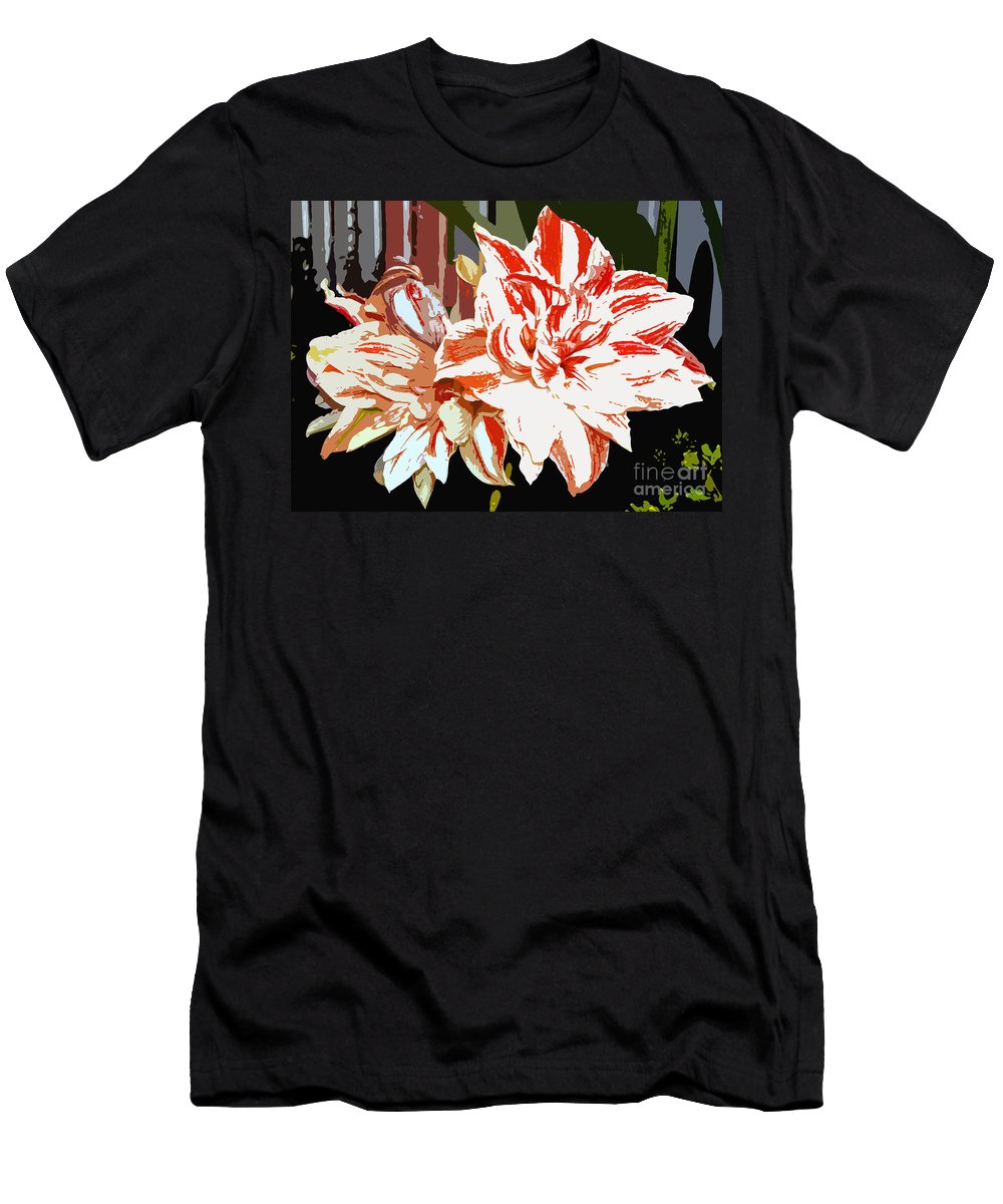 Flowers.tropical Men's T-Shirt (Athletic Fit) featuring the photograph Garden Beauty Work Number 30 by David Lee Thompson