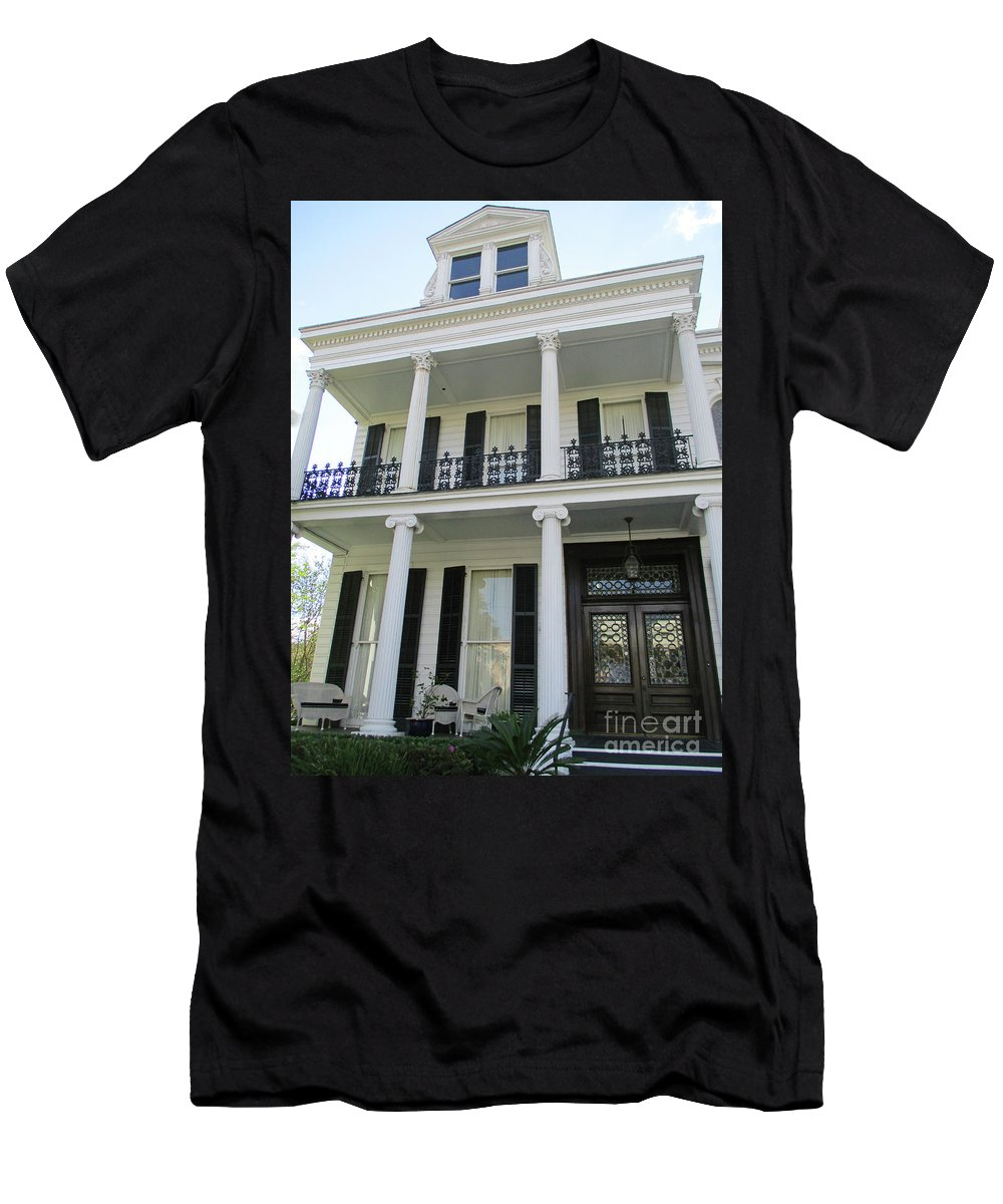 Garden District Men's T-Shirt (Athletic Fit) featuring the photograph Garden District 11 by Randall Weidner