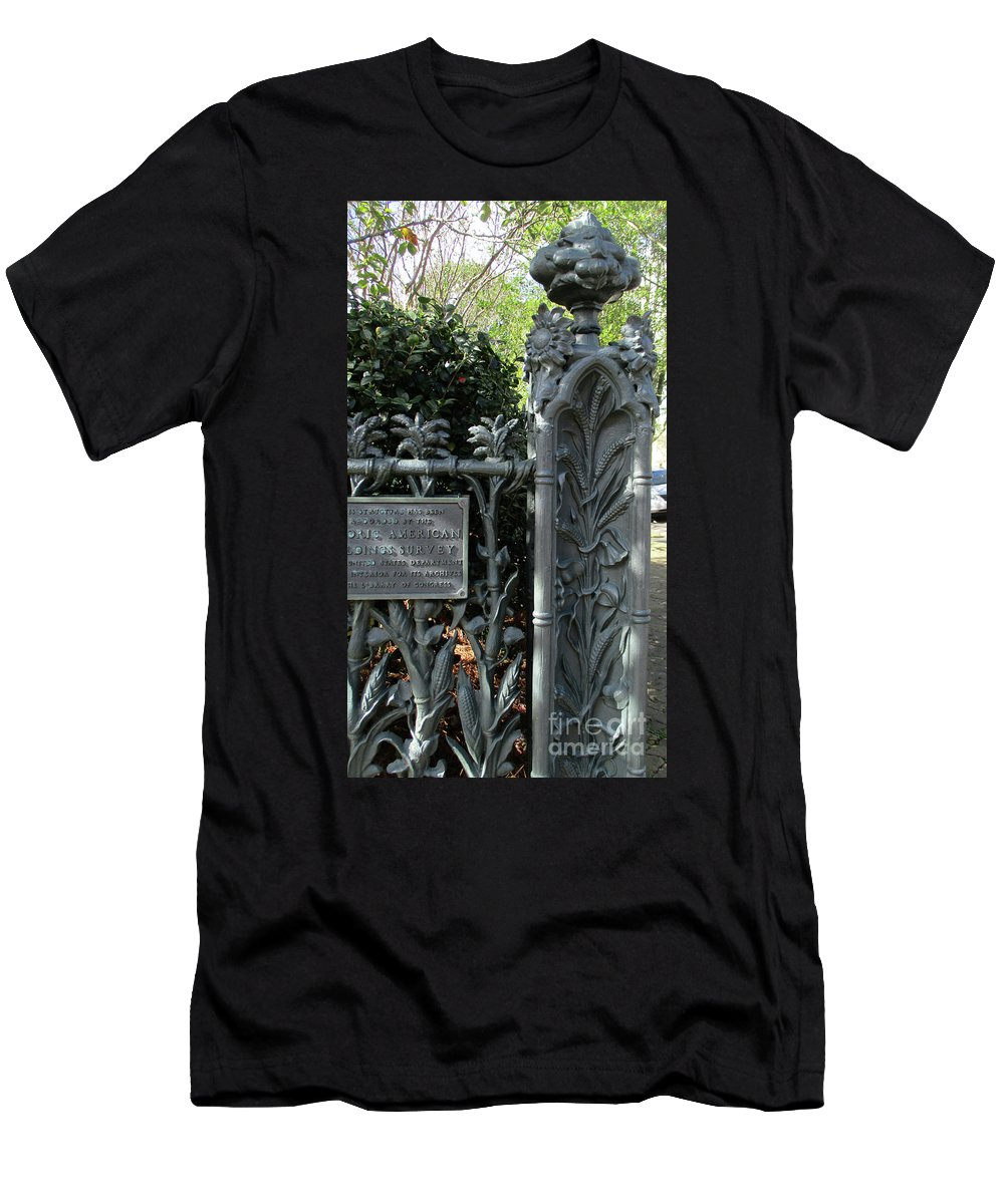 Garden District Men's T-Shirt (Athletic Fit) featuring the photograph Garden District 3 by Randall Weidner