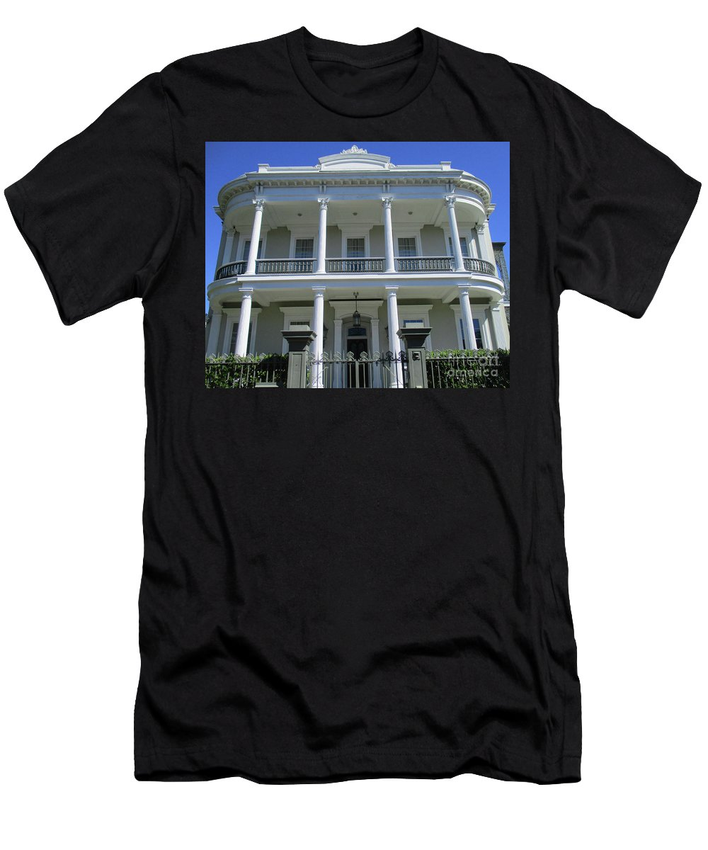 Garden District Men's T-Shirt (Athletic Fit) featuring the photograph Garden District 43 by Randall Weidner