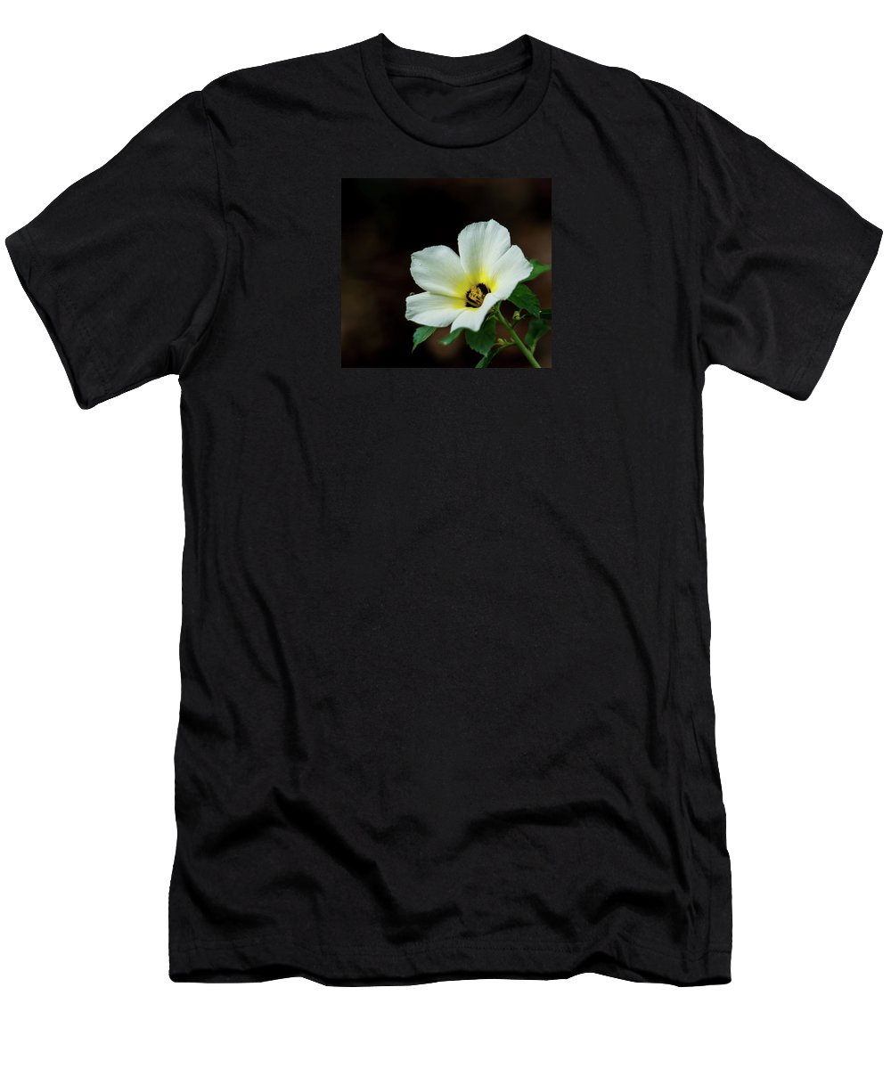 Flowers Men's T-Shirt (Athletic Fit) featuring the photograph Garden Flower by Barbara King