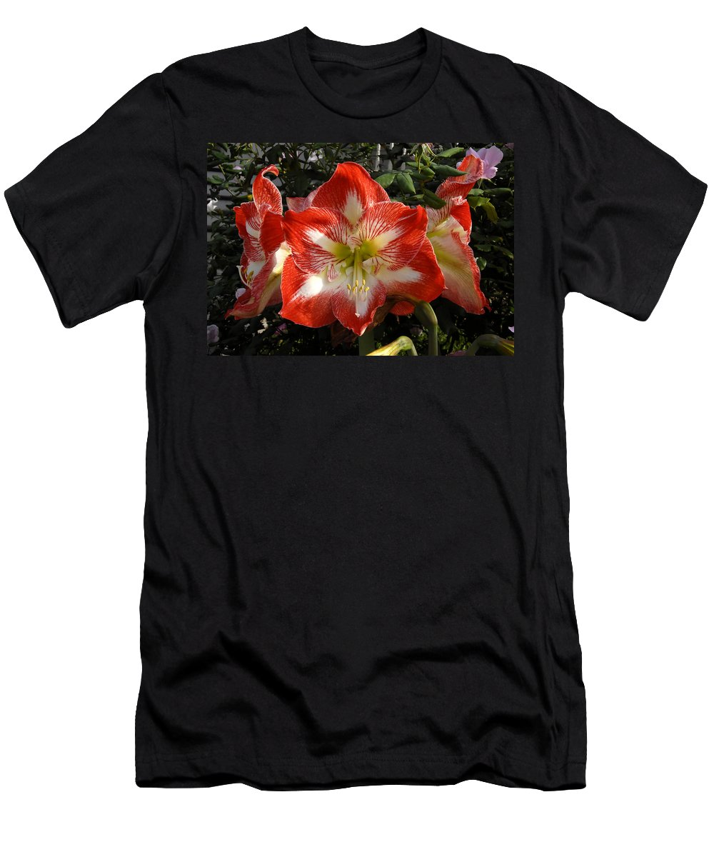 Garden Men's T-Shirt (Athletic Fit) featuring the photograph Garden Flowers by David Lee Thompson