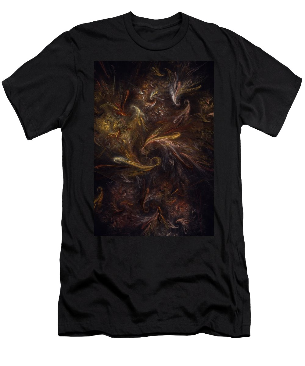 Digital Painting Men's T-Shirt (Athletic Fit) featuring the digital art Garden Of Earthly Delight by David Lane