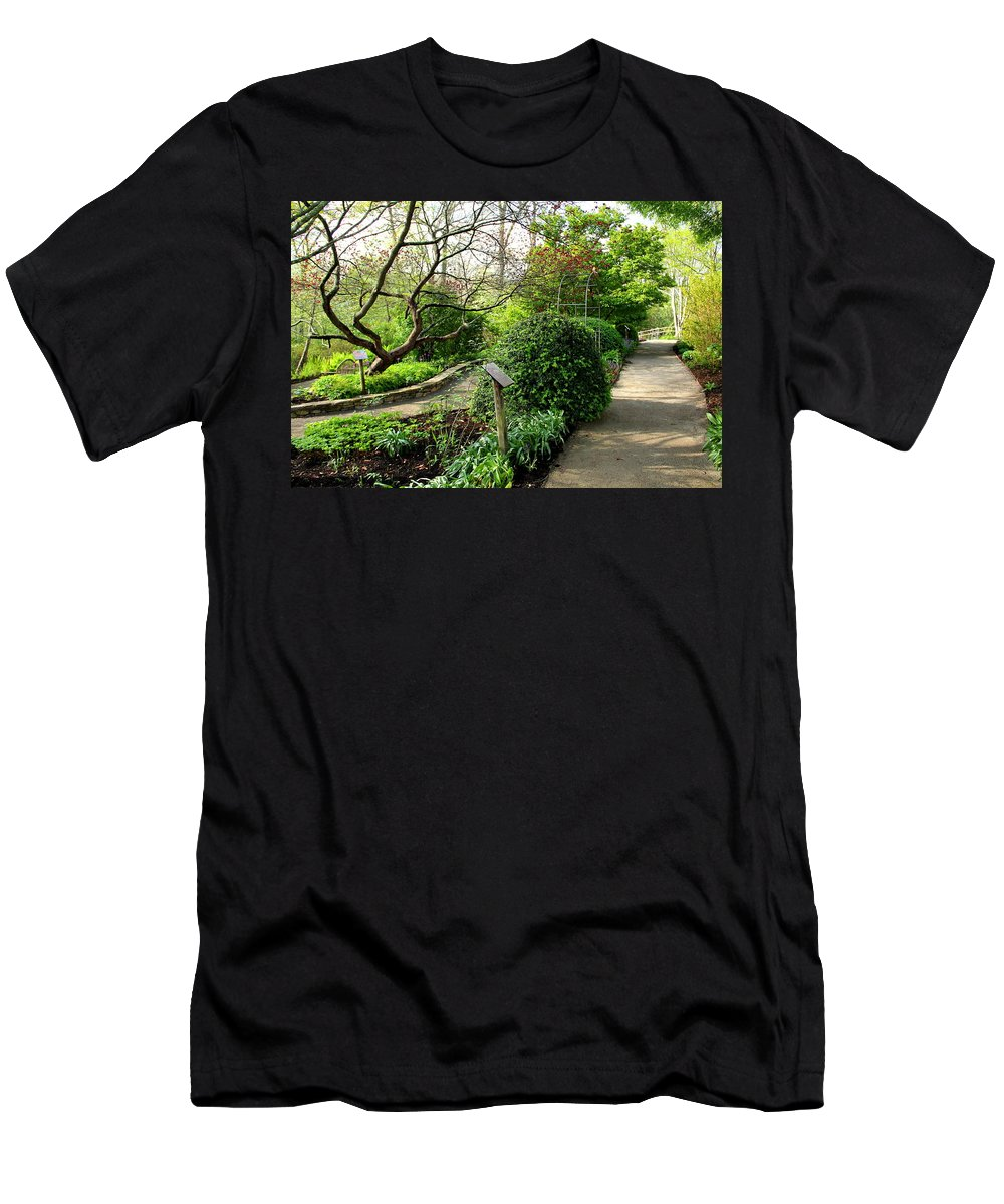 Garden Men's T-Shirt (Athletic Fit) featuring the photograph Garden Paths by Allen Nice-Webb