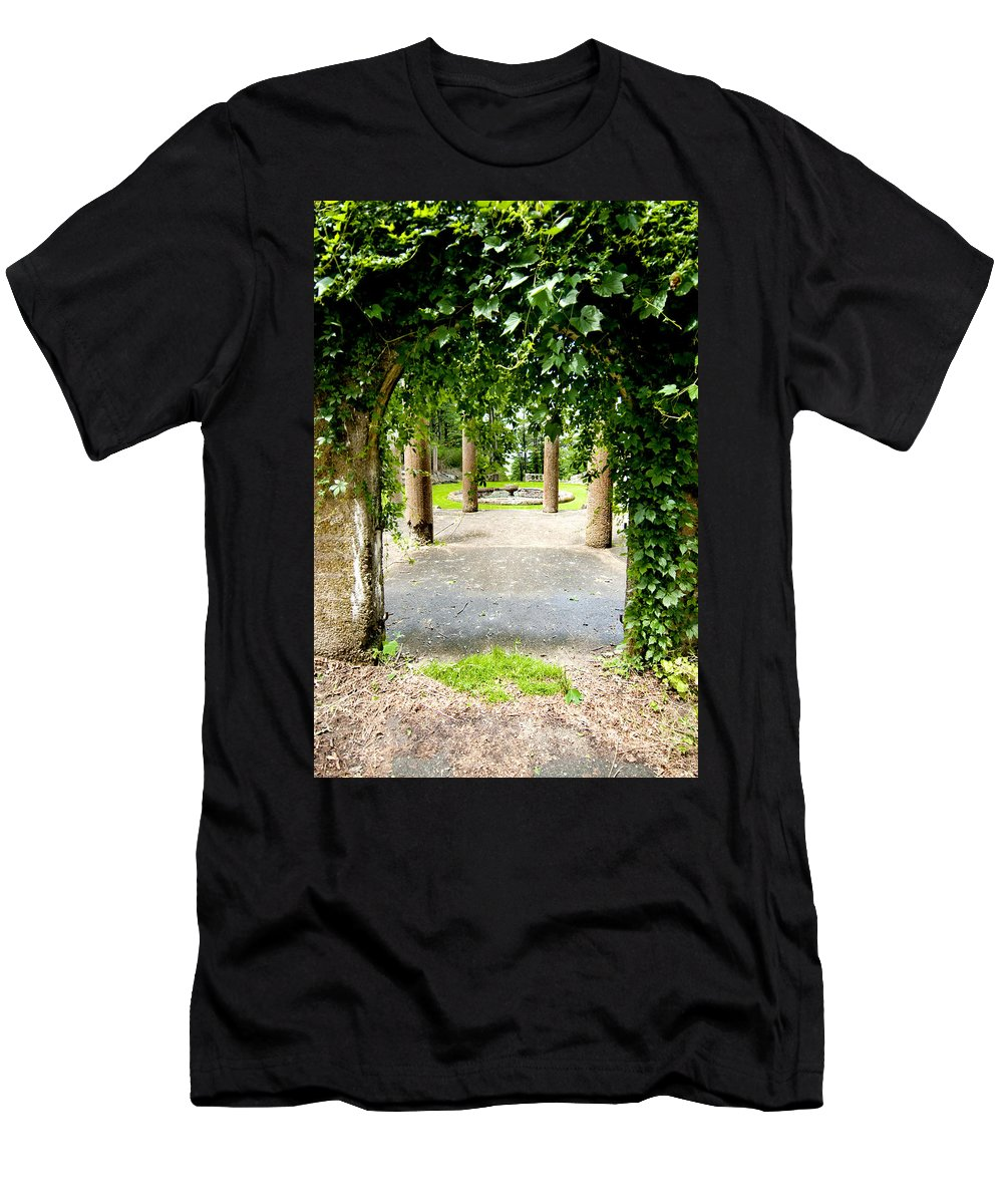 Garden Men's T-Shirt (Athletic Fit) featuring the photograph Garden Ruins by Greg Fortier