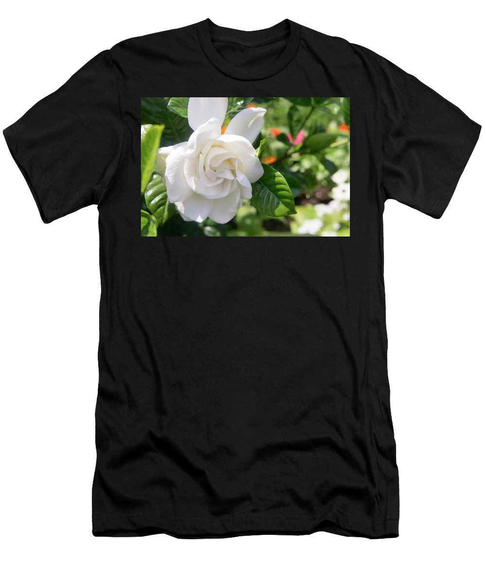 Gardenia Men's T-Shirt (Athletic Fit) featuring the photograph Gardenia by Adam Gladstone