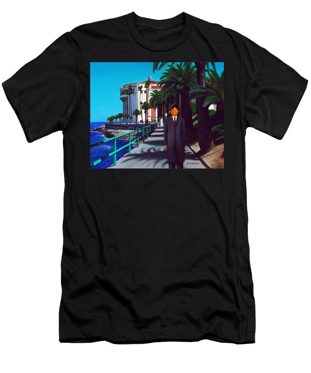 Catalina Men's T-Shirt (Athletic Fit) featuring the painting Gary Baldie by Snake Jagger