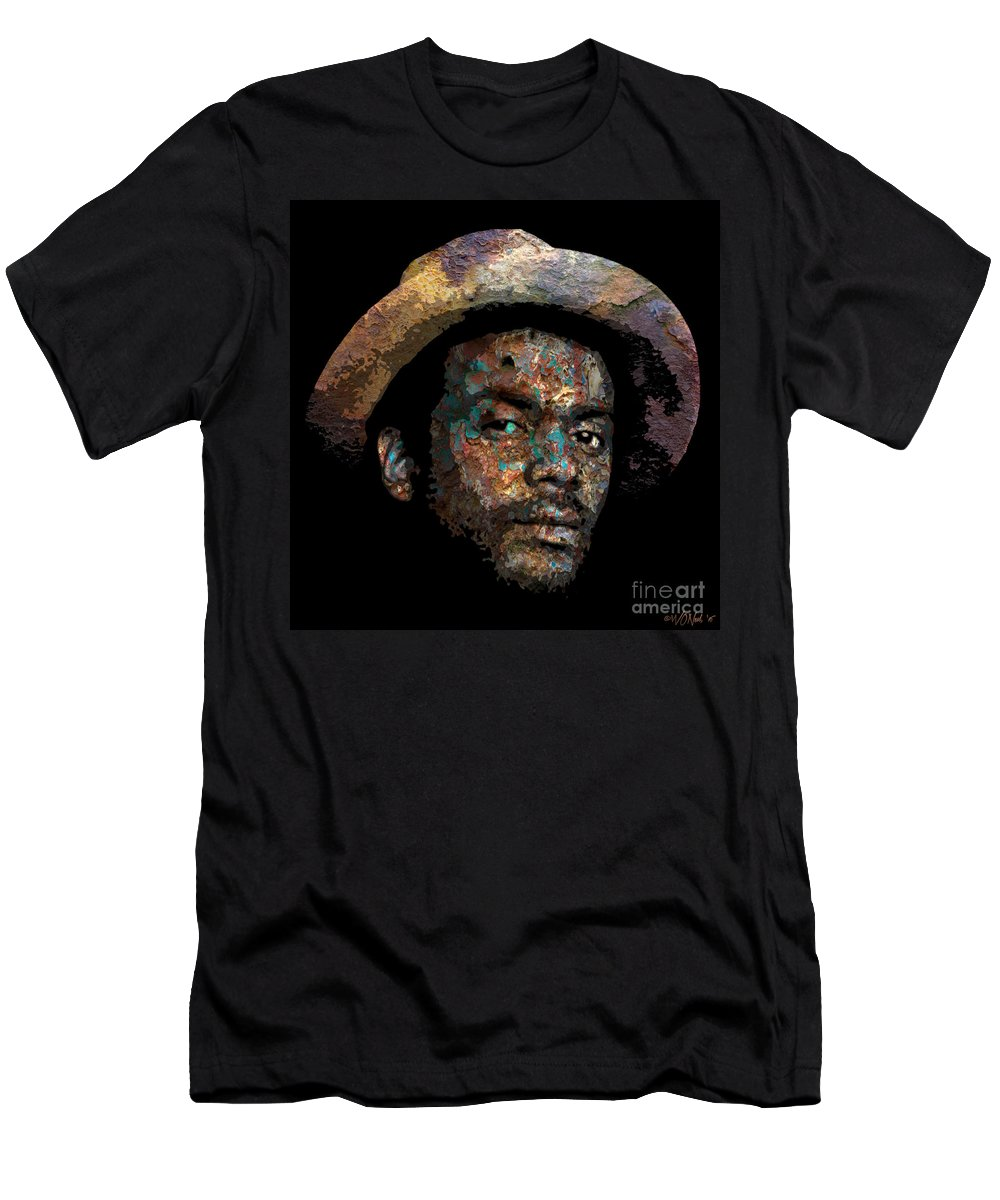 Faces Men's T-Shirt (Athletic Fit) featuring the digital art Gary Clark, Jr. No. 2 by Walter Oliver Neal