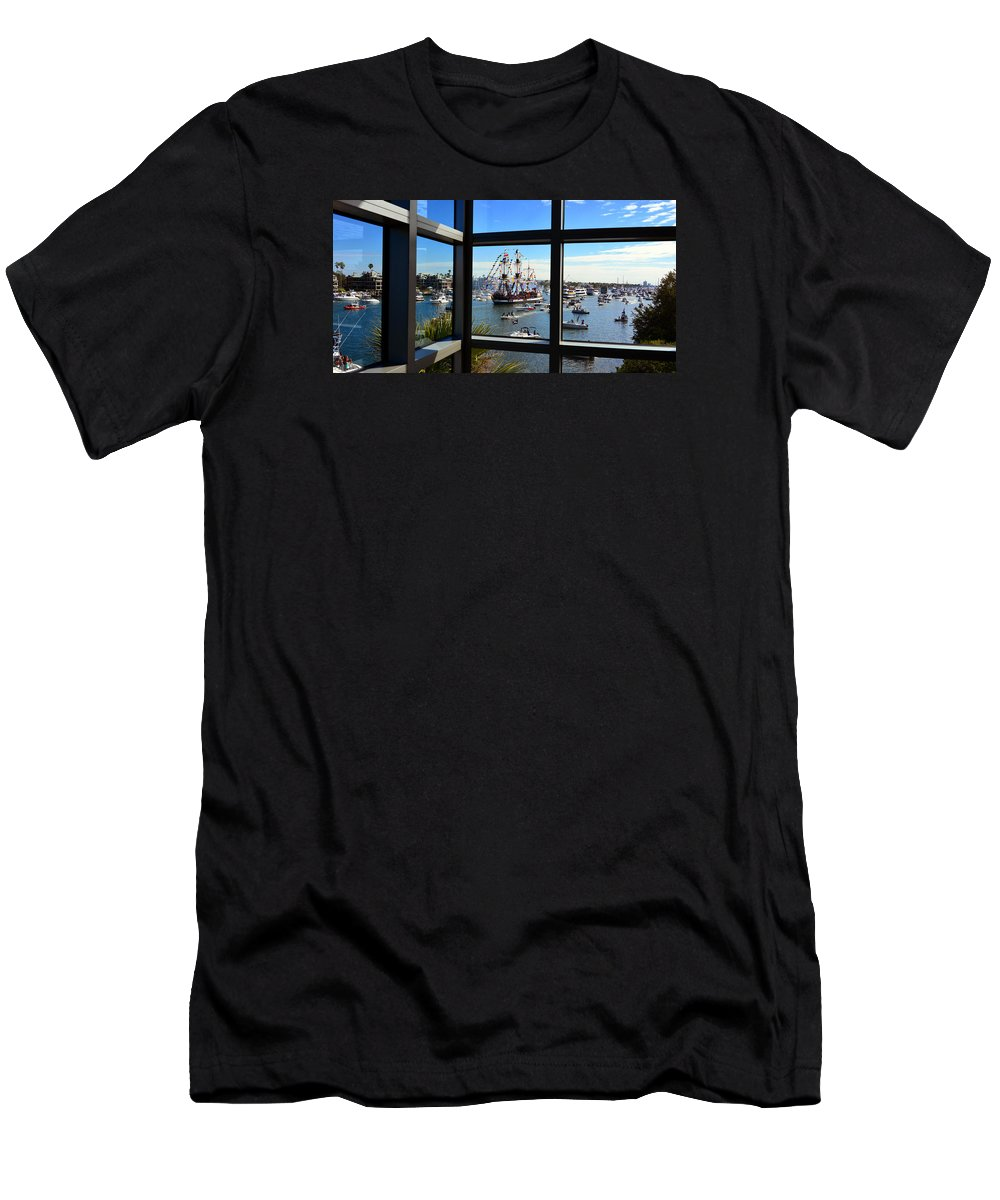 Gasparilla Through The Looking Glass Men's T-Shirt (Athletic Fit) featuring the photograph Gasparilla Through The Looking Glass by David Lee Thompson