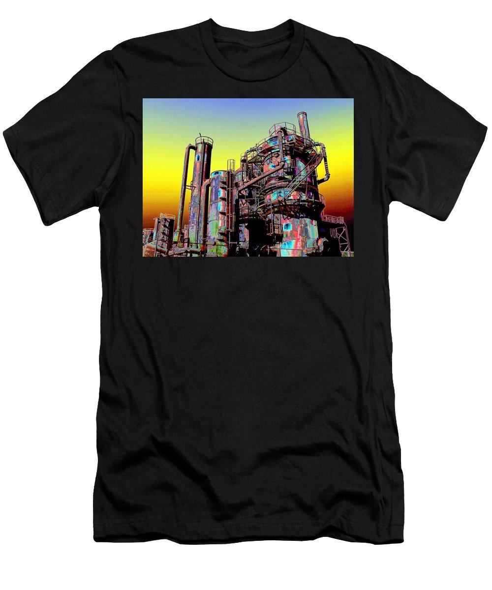 Seattle Men's T-Shirt (Athletic Fit) featuring the digital art Gasworks Park 1 by Tim Allen