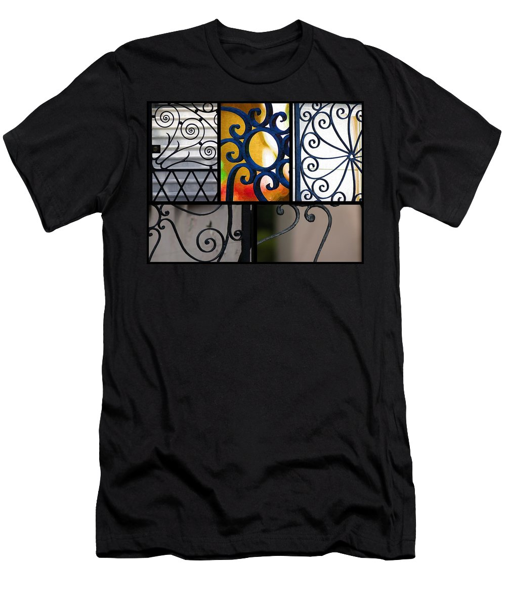 Iron Gates Men's T-Shirt (Athletic Fit) featuring the photograph Gate Designs by Donna Bentley