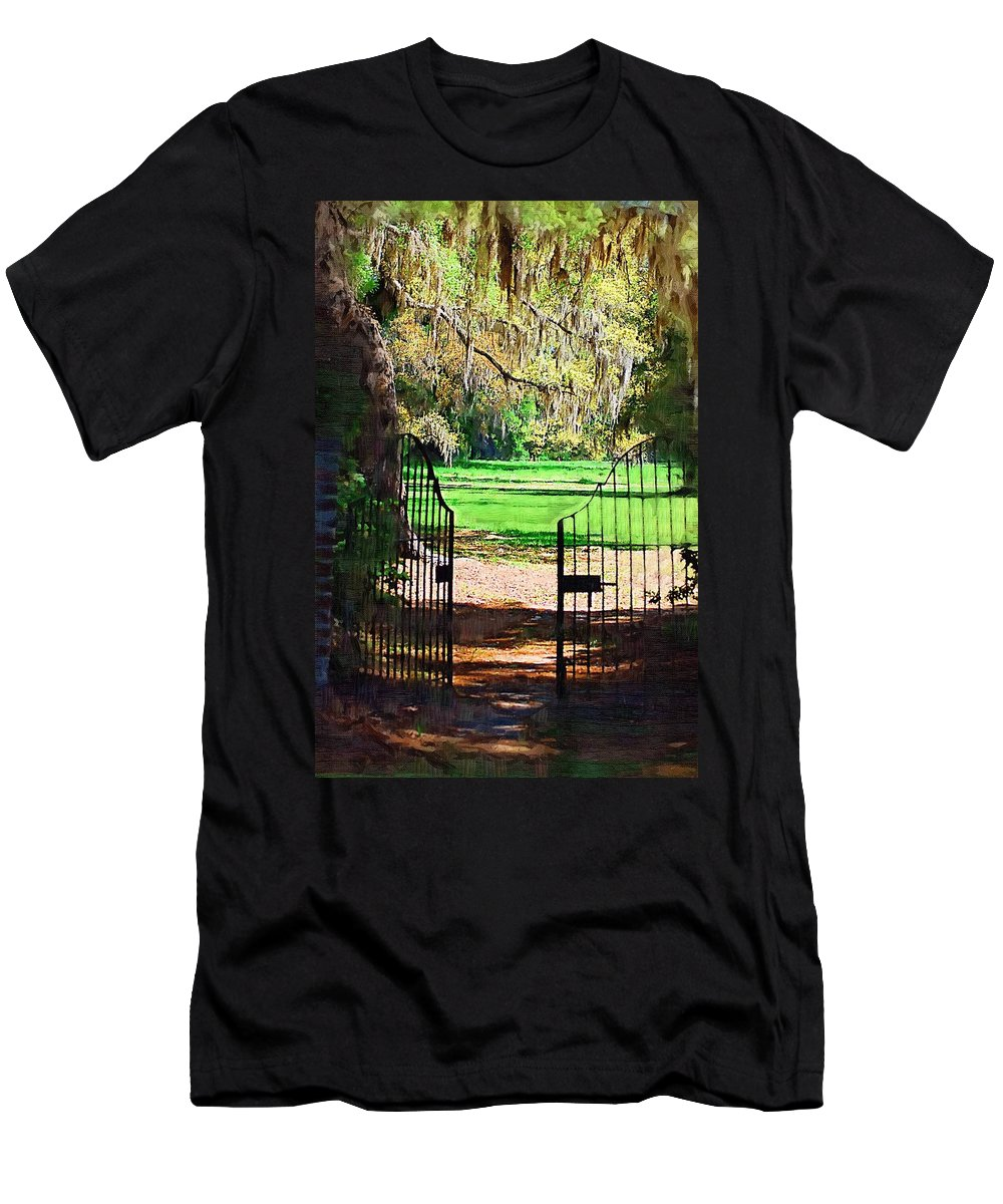 Gate Men's T-Shirt (Athletic Fit) featuring the photograph Gate To Heaven by Donna Bentley