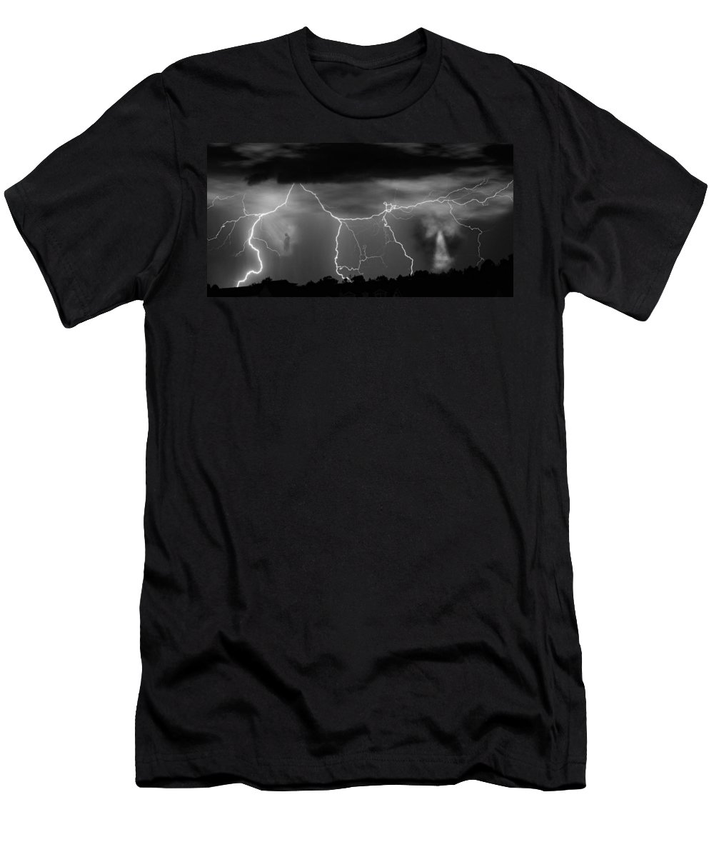 Religious Men's T-Shirt (Athletic Fit) featuring the photograph Gates To Heaven Black And White by James BO Insogna