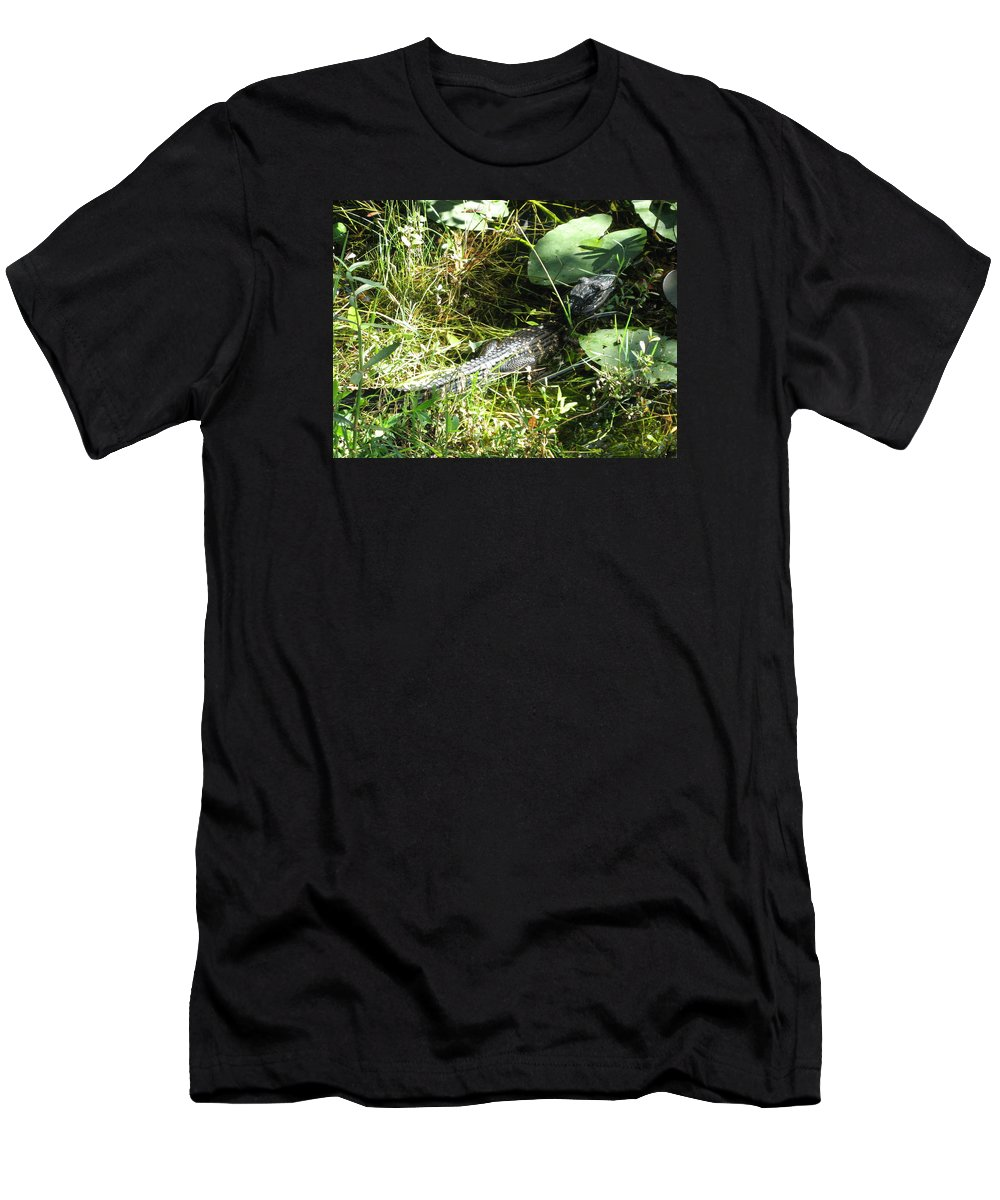 Gator Men's T-Shirt (Athletic Fit) featuring the photograph Gator Baby by Christiane Schulze Art And Photography