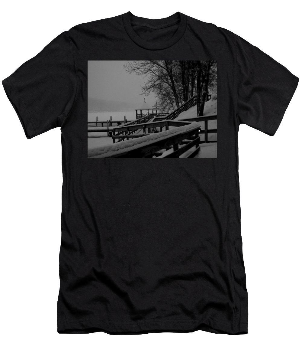 Meredith Nh Men's T-Shirt (Athletic Fit) featuring the photograph Gazebo-2 by Michael Mooney