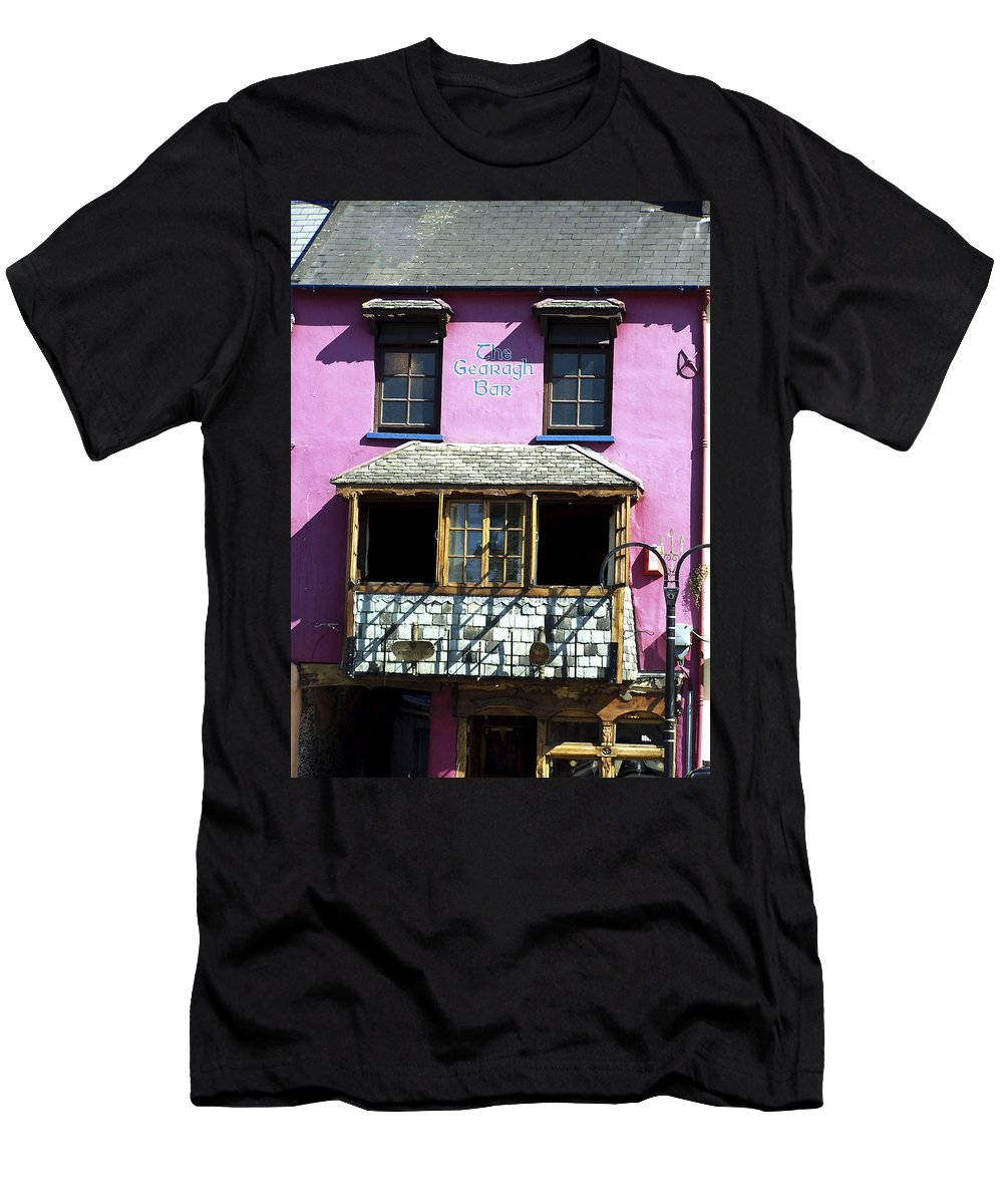 Irish Men's T-Shirt (Athletic Fit) featuring the photograph Gearagh Pub In Macroom Ireland by Teresa Mucha
