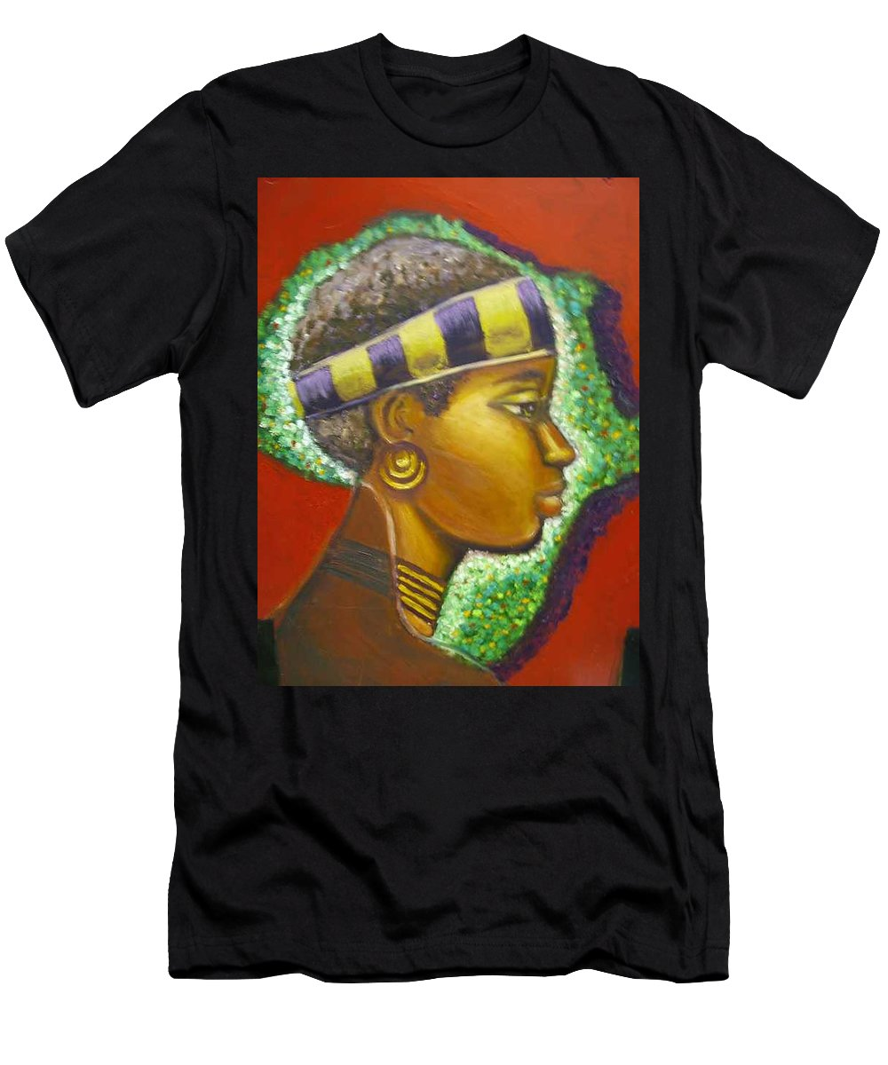 Gem Of Africa Men's T-Shirt (Athletic Fit) featuring the painting Gem Of Africa by Jan Gilmore