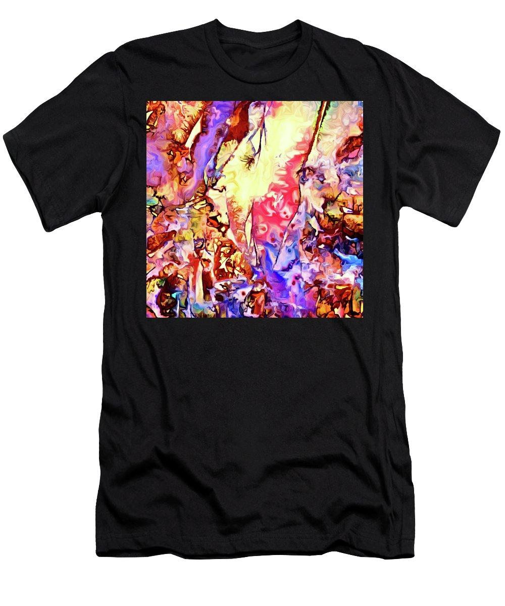 Gemstone Men's T-Shirt (Athletic Fit) featuring the digital art Gemstone Impressions by Dana Roper