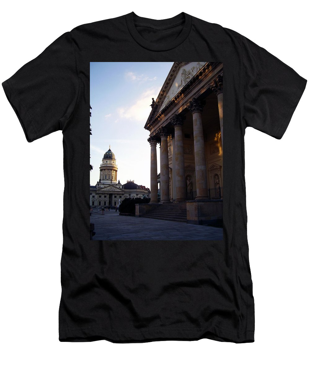 Gendarmenmarkt Men's T-Shirt (Athletic Fit) featuring the photograph Gendarmenmarkt by Flavia Westerwelle