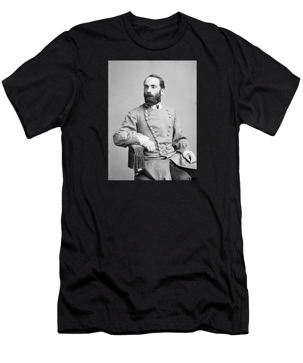 Joe Wheeler Men's T-Shirt (Athletic Fit) featuring the photograph General Joseph Wheeler by War Is Hell Store