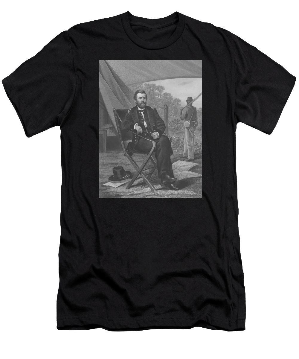 Grant Men's T-Shirt (Athletic Fit) featuring the painting General U.s. Grant by War Is Hell Store