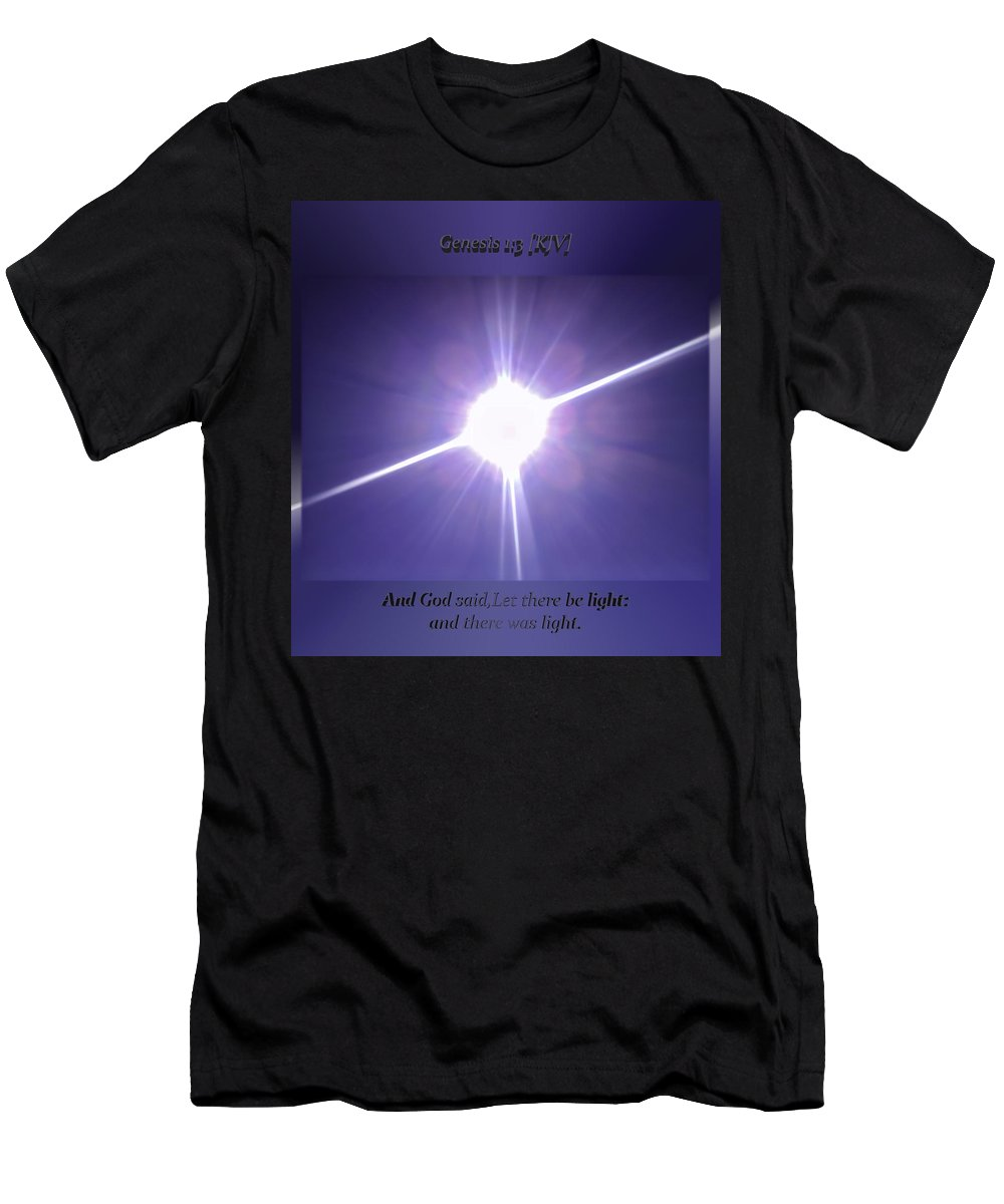 Genesis Men's T-Shirt (Athletic Fit) featuring the photograph Genesis Sun Burst by Brian Williams