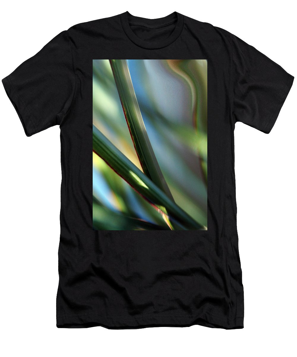 Flowers Men's T-Shirt (Athletic Fit) featuring the photograph Gentle... by Arthur Miller