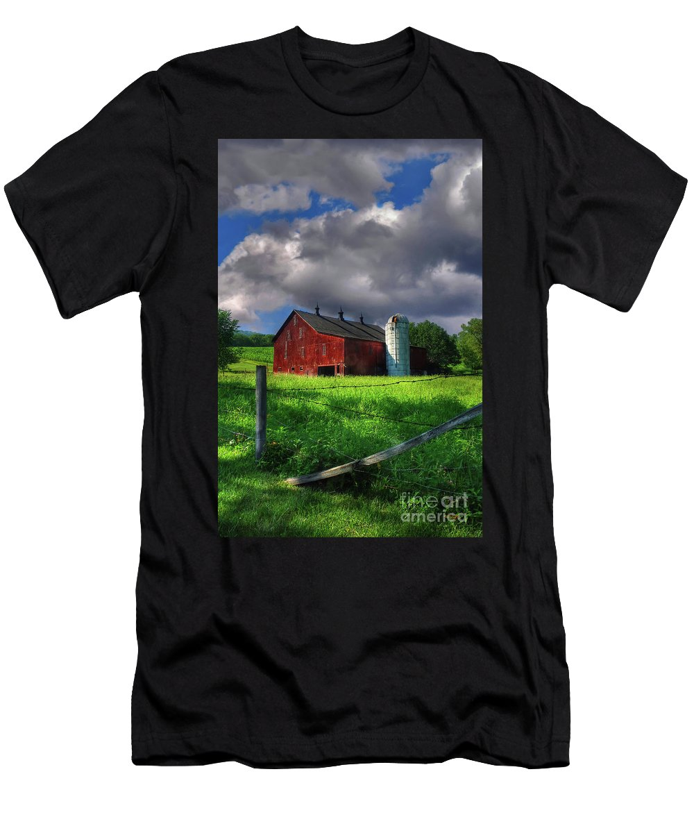 Landscape Men's T-Shirt (Athletic Fit) featuring the photograph Gentle Summer by Lois Bryan