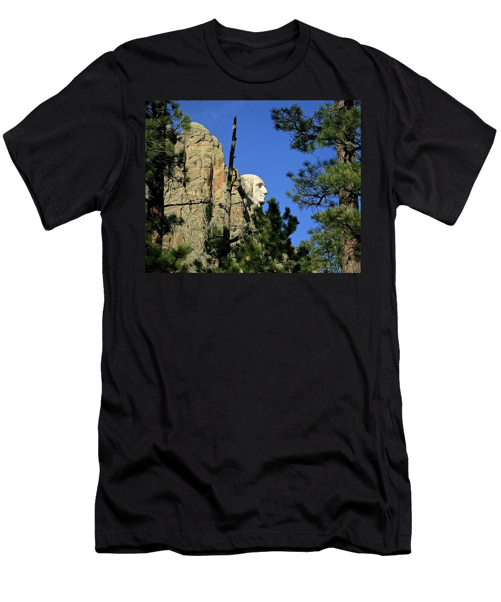 George Washington Men's T-Shirt (Athletic Fit) featuring the photograph George by Mark Mickelsen
