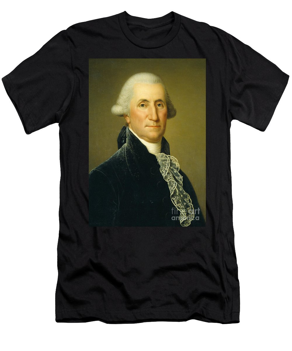 Washington Men's T-Shirt (Athletic Fit) featuring the painting George Washington, 1795 by Adolf Ulrich Wertmuller