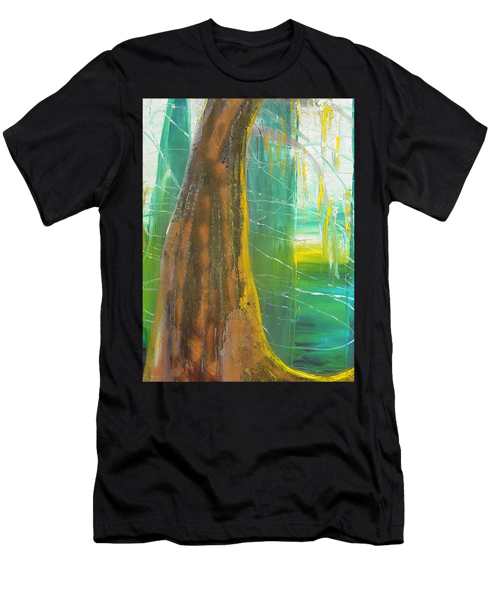 Landscape Men's T-Shirt (Athletic Fit) featuring the painting Georgia Morning by Peggy Blood