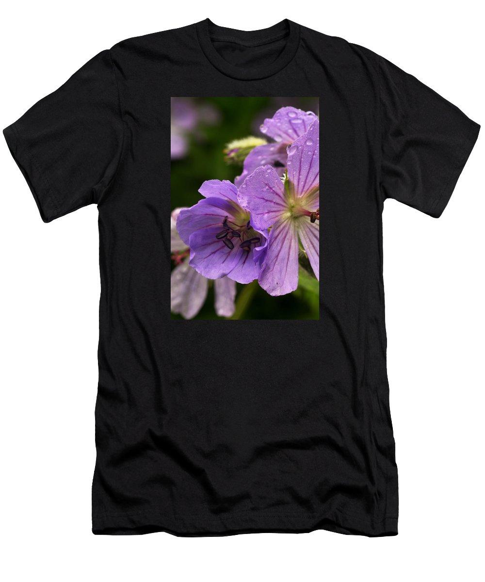 Nature Photography Men's T-Shirt (Athletic Fit) featuring the photograph Geranium IIi by Amanda Kiplinger