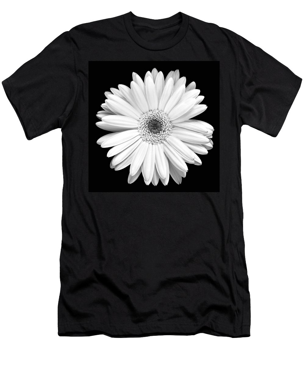 Gerber Men's T-Shirt (Athletic Fit) featuring the photograph Single Gerbera Daisy by Marilyn Hunt