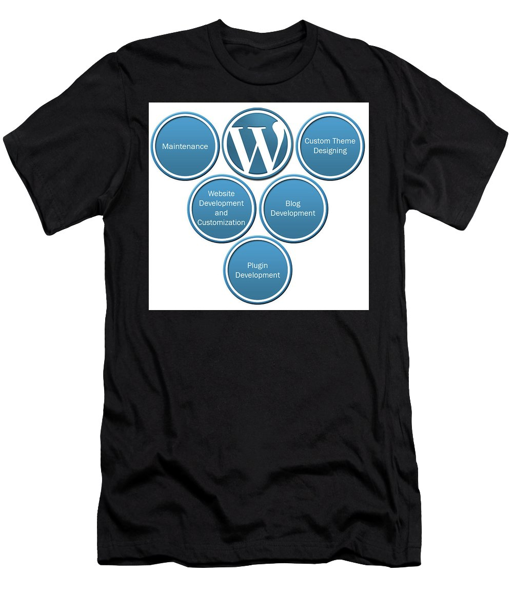 Wordpress Development India Men's T-Shirt (Athletic Fit) featuring the digital art Get Result Oriented Word Press Development Services by Wordpress development servcies